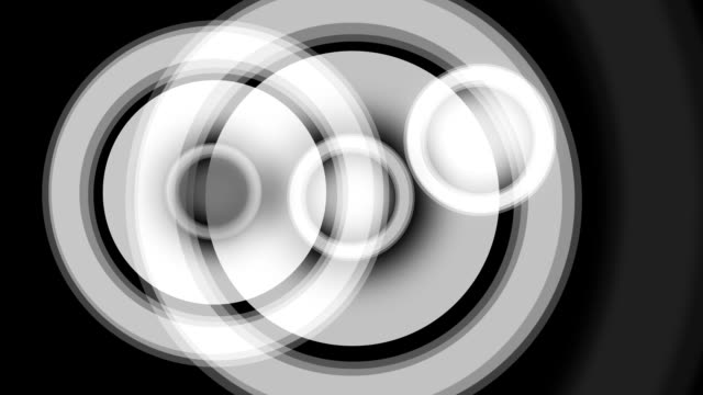 Animated Loudspeakers Symbol in Black and White for Backgroud video