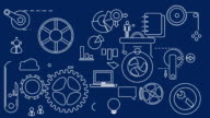 Animated Mechanization Blue HD Video video