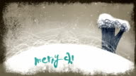 Animated Merry Christmas Lettering on a Holiday Background video