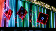 Animated Neon Dice Marquee Loop video
