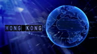 animated planet earth with the title Hong Kong city video