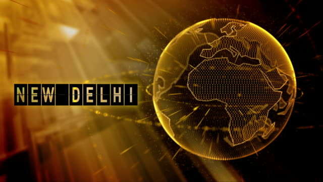 animated planet earth with the title New Delhi city video
