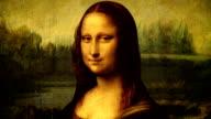 Animated portrait of Mona Lisa video