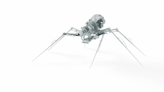 Animated robot spider video