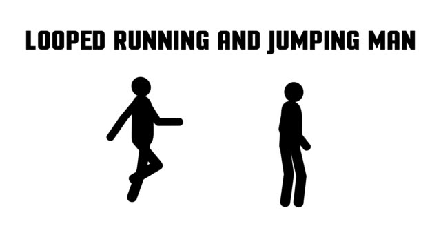 animated running jumping man video
