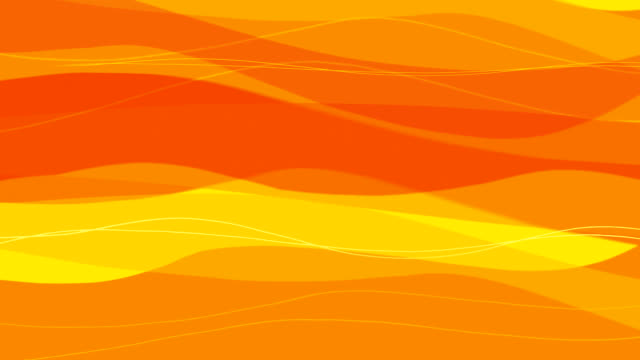 Animated Smoothing Lines in Orange and Yellow as a Background video