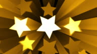 Animated Stars Background Loop - Golden Yellow (Full HD) video
