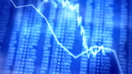 animated stock numbers, graphs and charts video