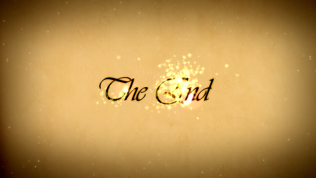 animated title 'The End' video