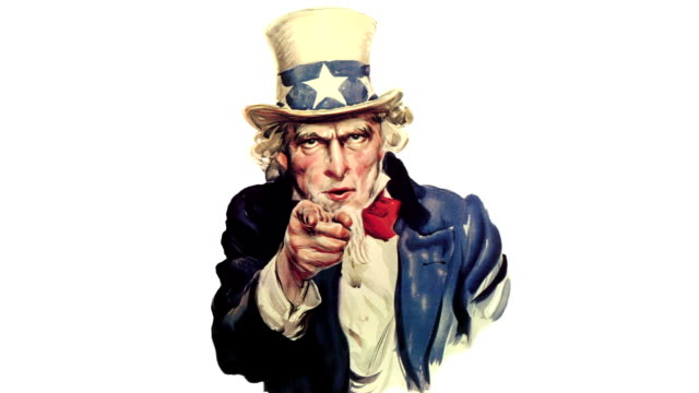 Animated Uncle Sam talking video