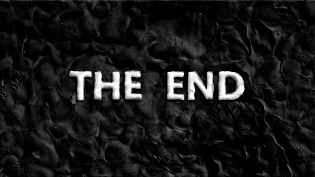Animated words at 'the end' video