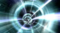 Animated wormhole a tunnel through space. Loop-able video