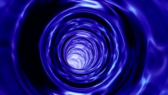 Animated wormhole through cosmic space loop video