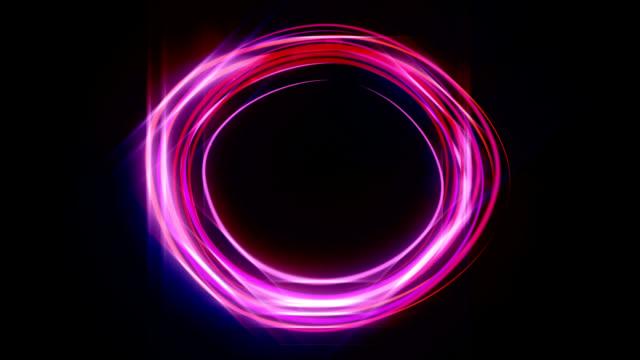 Animating neon circle HD video