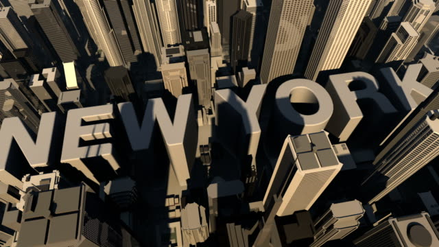 animation 3d from the name of city  New york video