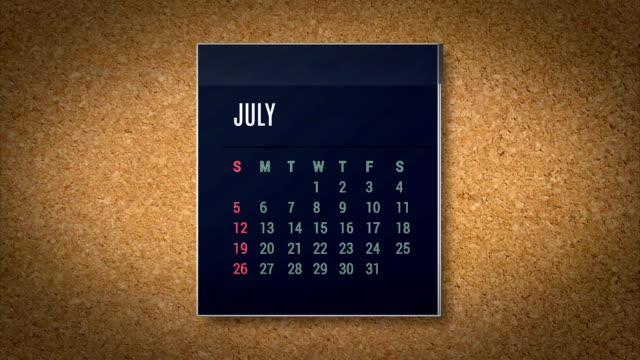Animation calendar flying - alpha map video