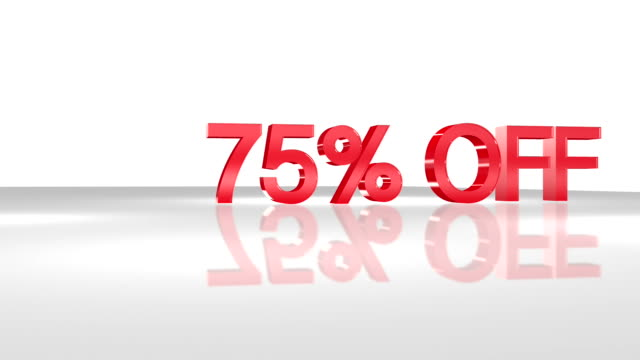 75% OFF 3D animation concept. video