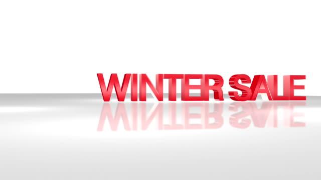 WINTER SALE 3D animation concept. video