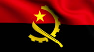Animation flag of  Angola     in Africa video
