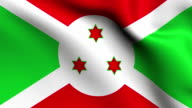 Animation flag of   Burundi    in Africa video