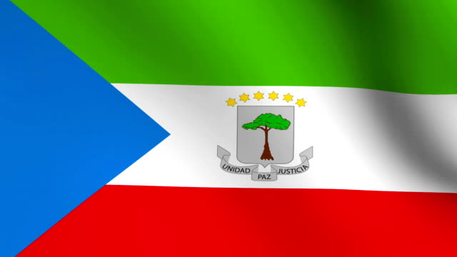 Animation flag of   Equatorial Guinea    in Africa video