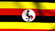 Animation flag of    Uganda   in Africa video