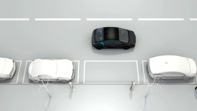 Animation for car parking assist system concept video