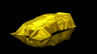 3D animation of a luxury car under a sheet video