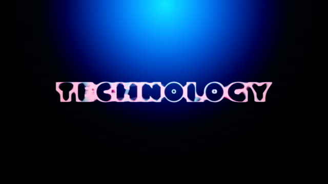 3D animation of a word TECHNOLOGY revealing from an abstract network video