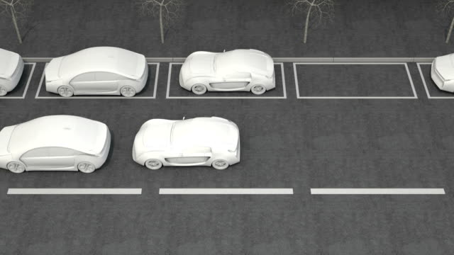 3D animation of automatic braking system concept video