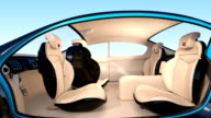 animation of autonomous car interior concept video