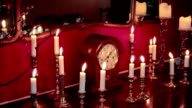 animation of candlesticks on a table - HD video