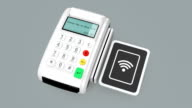Animation of  cashless mobile payment concept video