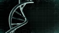 Animation of genetic DNA with science background. Loop-able video