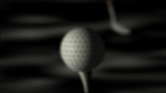 animation of golf hit HD video