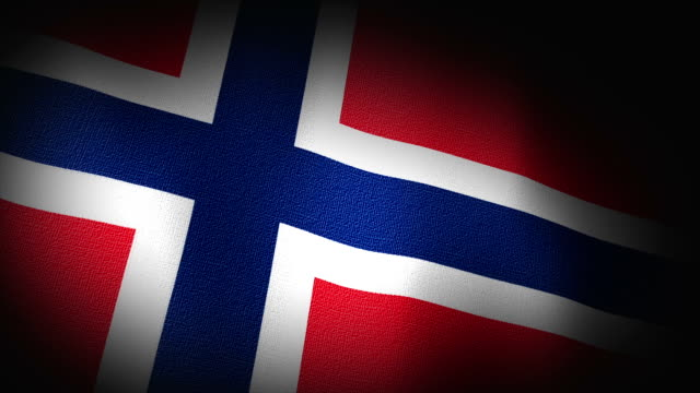 3D Animation of Norway, norwegian Flag Closeup Canvas Texture video
