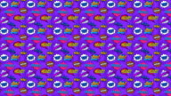 Animation of Seamless pattern with comic style phrases. Pop art style quotes video