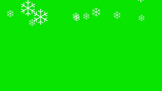 Animation of Snowflakes on a Green Screen Background video