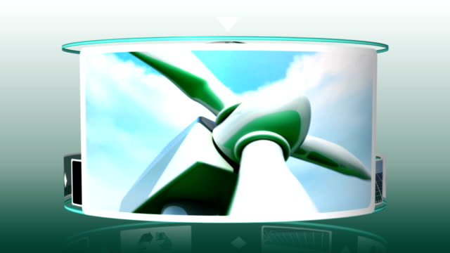 Animation of solar and wind energy video