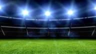 Animation du stade avec lumières et flashes - Vidéo