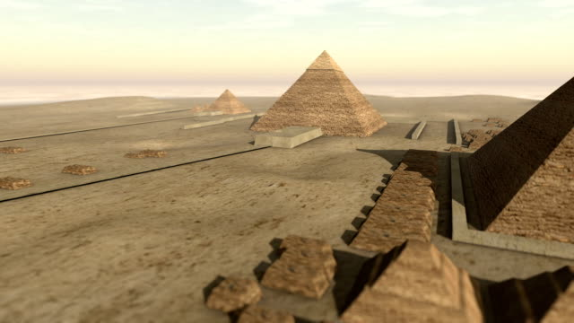Animation of the Giza platform Egypt in 3D video