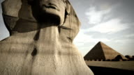 Animation of the Sphinx at the Giza platform, Egypt video