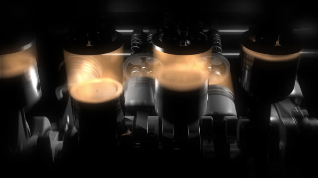 Animation of working v8 engine Inside. video