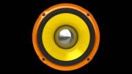 Animation Orange Speaker (HD, Loop/Cycle, Alpha) video