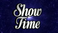 SHOW TIME  Animation Rotation Text and Disco Dance Background, with Alpha Channel, Loop video