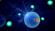 3D animation simulation of electronic transition of titanium dioxide video