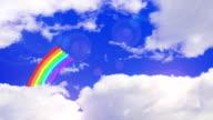 Animation, sky and rainbow video
