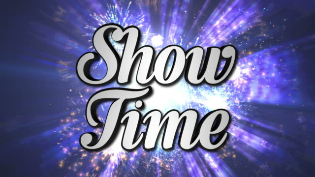 SHOW TIME  Animation Text and Disco Dance Background, Zoom IN/OUT Rotation, with Alpha Channel, Loop, 4k video