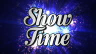SHOW TIME  Animation Text and Disco Dance Background, Zoom IN/OUT Rotation, with Alpha Channel, Loop video