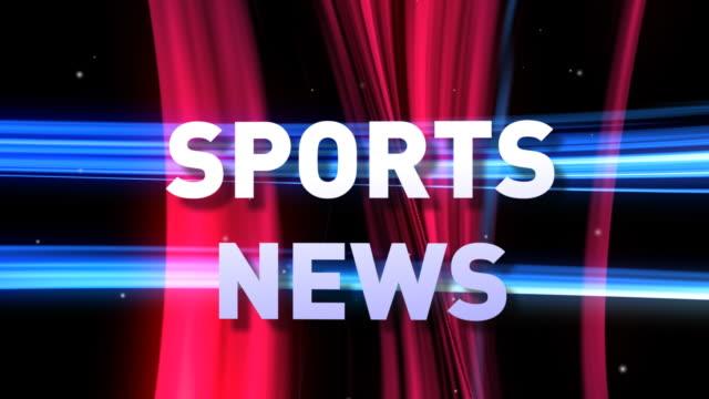HD: 3D SPORTS NEWS animation video
